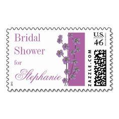 Radiant Orchid Purple Bridal Shower Stamp #bridalshower #purplewedding #radiantorchid #2014colors #pantonecolors