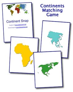 Continent Snap Game or Learning Center
