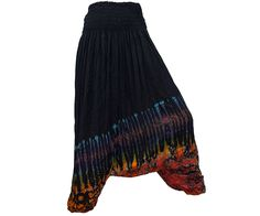Black Tie Dye Thai Harem Pants/Baggy by AsianCraftShop on Etsy, $21.00