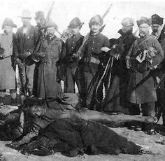 Massacre At Wounded Knee.  Because of fear and white misunderstanding of the Ghost Dance, Spotted Elk's band of about 300 Miniconjou Lakota and 38 Hunkpapa Lakota near Porcupine Butte were detained and escorted five miles westward to Wounded Knee Creek, where they made camp. On the morning of December 29, 1890, 500 U.S. troops were sent into the camp to disarm the Lakota. An accidental shot set off the massacre.