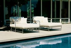 One Kings Lane - Century Outdoor Furniture - Gulf Stream Chaise, Salt
