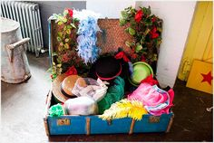 Props for a DIY photo booth / dress up ideas for kids at a wedding