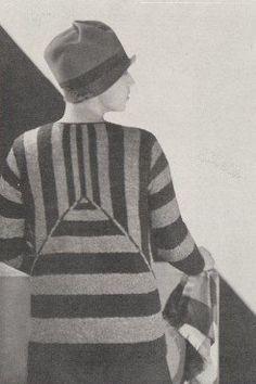 Sweater 1927 |  Le Sweater de Laine Tricotée on Renouvelle sa Décoration Schiaparelli