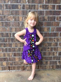 Girls Halloween Outfit  Trick or Treat  Fall by EllaLeneDesigns