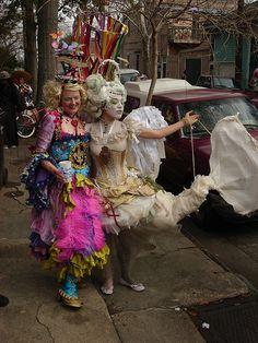 Random white mermaid costume taken on Mardi Gras Day.