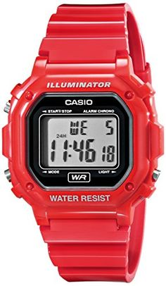 Casio F108WHC4ACF Classic Red Stainless Steel Watch *** Check this awesome product by going to the link at the image.Note:It is affiliate link to Amazon.