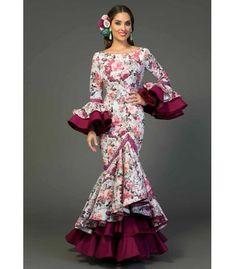 trajes de flamenca 2018 - Aires de Feria - Trajes de gitana Ronda estampado