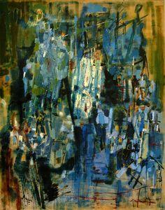 Camille Bryen (Camille Briand) France 1907-1977New York, Novembre 1955 oil on canvas 146 x114 cm