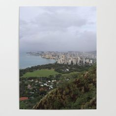 View from Diamondhead mtn in Hawaii Poster by wbdesigns Blank Walls, Diy Frame, Cool Diy, High Quality Images, Art For Sale, Your Space, Vibrant Colors, Hawaii, Smooth