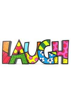 romero britto - laugh