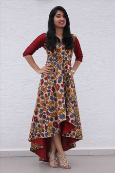 7 Ways To Look Chic In Kalamkari is part of Kalamkari dresses - India has a rich textile heritage & kalamkari is one Kalamkari has a tedious process which is done manually Here are few ways how you can use Kalamkari Salwar Designs, Kurti Neck Designs, Kurta Designs Women, Kurti Designs Party Wear, Blouse Designs, Indian Gowns Dresses, Indian Outfits, Kalamkari Dresses, Kalamkari Kurti