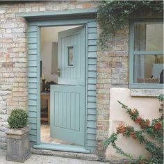 """old fashion""""dutch door"""" or stable door Interior Door Colors, Interior Barn Doors, Interior And Exterior, Dutch Door Exterior, Veneer Door, Cottage Door, External Doors, Entrance Doors, Garage Doors"""