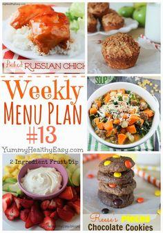 YHE Weekly Menu Plan #13
