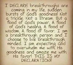 This is my declaration. Faith Quotes, Bible Quotes, Bible Verses, Scriptures, Prayer Verses, Prayer Quotes, Prayer Board, Prayer Prayer, Daily Prayer