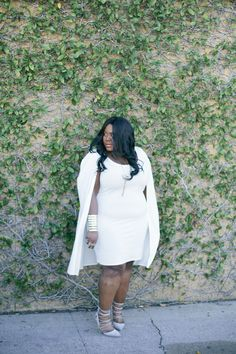 Musings of a Curvy Lady, Plus Size Fashion, Fashion Blogger, All white outfit, Solange Inspired, Cape Dress, Charlotte Russe, Charlotte Russe Plus, Style Hunter, The Outfit, People StyleWatch Magazine, #REALOUTFITGRAM, #YOUGOTITRIGHT, #MCBeautyRoadShow, Solange Knowles, Women's Fashion, Spring Fashion