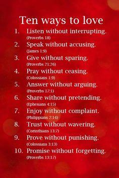 Ten ways to love