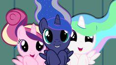 My little pony princess Luna princess cadence princess celestia My Little Pony List, My Little Pony Pictures, My Little Pony Friendship, Princesa Celestia, Celestia And Luna, Mlp Twilight, Twilight Sparkle, Princess Cadence, Disney Princess