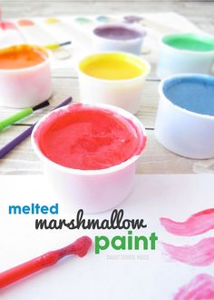 Marshmallow Paint. Made with real marshmallows! Completely edible.