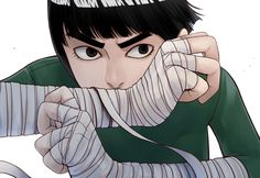 Not exactly Rock Lee, but yes to the wrapping...possibly all the way up the arms?