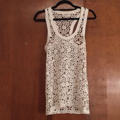 NEW Zara summer white lace tank top Never worn white lace tank top from Zara collection. Loose fitting and long fitting                                                                       No Trades                                                            ✅ Offers considered Zara Tops Tank Tops