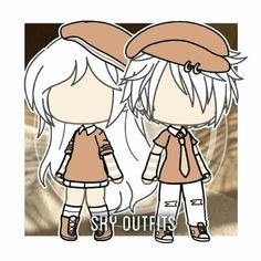 Suka, 24 Komentar - Back again ✨ ( di Ins Twin Outfits, Couple Outfits, Club Outfits, Cute Anime Character, Character Outfits, Character Aesthetic, Character Design, Clothing Sketches, Cute Anime Chibi