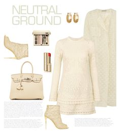 """""""Cool Neutrals"""" by bliznec ❤ liked on Polyvore featuring Emilia Wickstead, Hermès, See by Chloé, Dolce&Gabbana, Melrose & Market, Clarins, neutrals, polyvoreeditorial and polyvorecontest"""