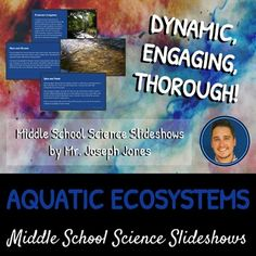 Ecosystems & Succession: A Life Sciences Slideshow! Science Ideas, Life Science, Nitrogen Cycle, Carbon Cycle, Aquatic Ecosystem, Middle School Science, Biomes, Teaching Strategies, Global Warming