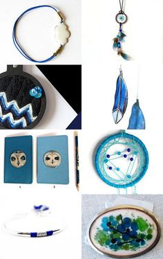 Simplement Bleu by Fred Pézeril Rose Recèle on Etsy--Pinned with TreasuryPin.com