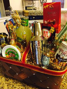 Holiday Margarita Gift Basket Toast to the Holidays . Holiday Margarita Gift Basket Toast to the Holidays Fundraiser Baskets, Raffle Baskets, Theme Baskets, Themed Gift Baskets, Gift Baskets For Him, Basket Gift, Margarita Gift Baskets, Auction Baskets, Gift Bouquet