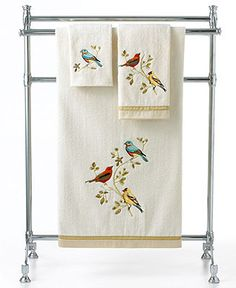 Avanti Bath Towels, Gilded Birds Collection - Bath Towels - Bed & Bath - Macy's