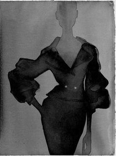 Fashion Illustration by Mats Gustafson (b. Mats Gustafson, Fashion Art, Trendy Fashion, Fashion Models, Fashion Design, Fashion Studio, Tinta China, Fashion Sketches, Fashion Illustrations