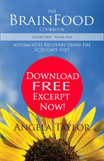The BrainFood Cookbook by Angela Taylor - GAPS Diet Recipes for Autism and ADHD