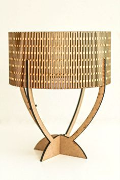Laser cut 5 piece lamp.9mm MDF.