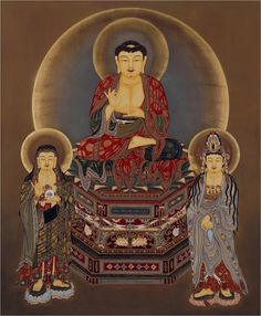 Amitabha Buddha - Three Meditators