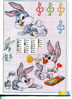 Baby bugs Bunny and the music