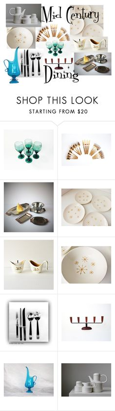 """""""Mid Century Dining"""" by vintageandmain ❤ liked on Polyvore featuring interior, interiors, interior design, home, home decor, interior decorating, MCM and vintage"""