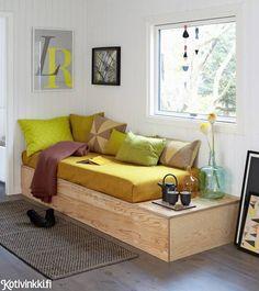 Tee se itse vuodesohva vanerista! Tälle sohvalle kelpaa vieraan köllähtää yöksi jos toiseksikin. Katso ohje!