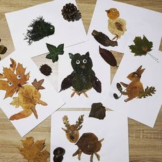 Forest animals with leaves of trees. Majestic Animals, Animals Beautiful, Animals And Pets, Funny Animals, Animal Mashups, Tree Leaves, Autumn Activities, Forest Animals, Art Plastique