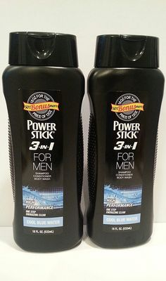 Power Stick 3 in 1 for Men Shampoo Conditioner Body Wash Cool Blue Water 18 oz. 50% Bonus More (2 Pack) -- More info could be found at the image url.