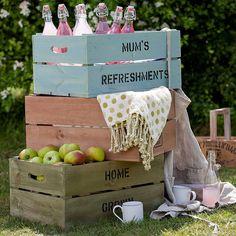 Storage Crates - colours - gekleurde kistjes