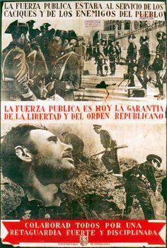 Spain - 1936-39. - GC - poster - Las Fuerzas Públicas al servicio del Pueblo.