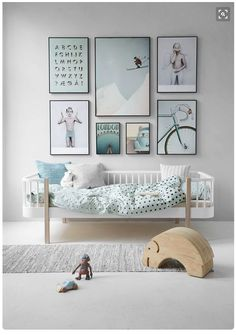 Nursery with muted blue hues. For more, visit houseandleisure.co.za