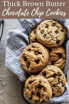 Brown Butter Cookies, Gluten Free Chocolate Chip Cookies, Chocolate Chips, Easy Desserts, Delicious Desserts, Yummy Food, Cookie Recipes, Dessert Recipes, Homemade Cookies