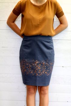 Lotte Martens fabric and a simple skirt