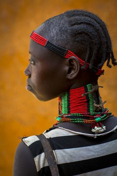 "artafrica: "" Hamer tribe woman with big necklace, Dimeka market (by Eric Lafforgue) """