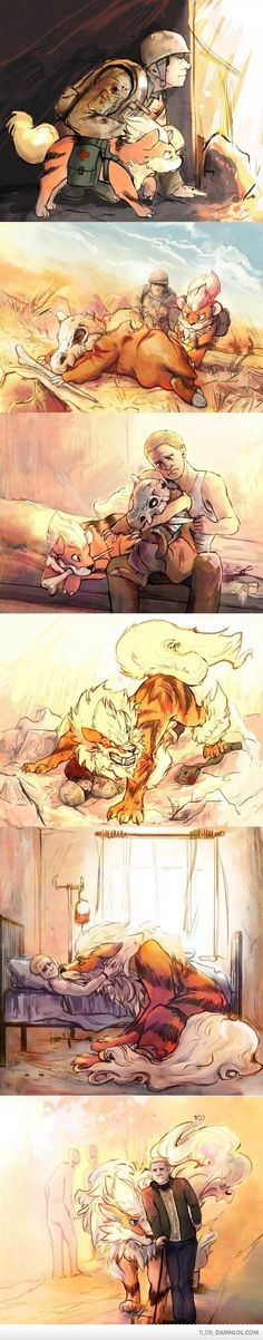 This is beautiful but all I can think is...John Watson had a Growlithe/Arcanine? Lol!
