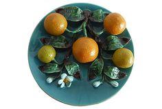 Majolica Oranges Wall Platter on OneKingsLane.com