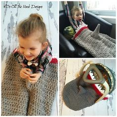 This is a PDF crochet pattern for a shark car seat cozy! This cozy is designed…