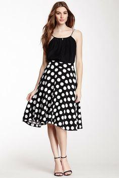 Print Knee Length A-Line Skirt by Eros on @HauteLook