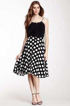 Print Knee Length A-Line Skirt by Eros on @HauteLook